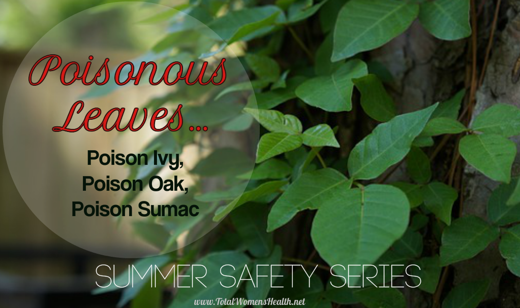 Poisonous Leaves…Poison Ivy, Poison Oak, and Poison Sumac:  Summer Safety