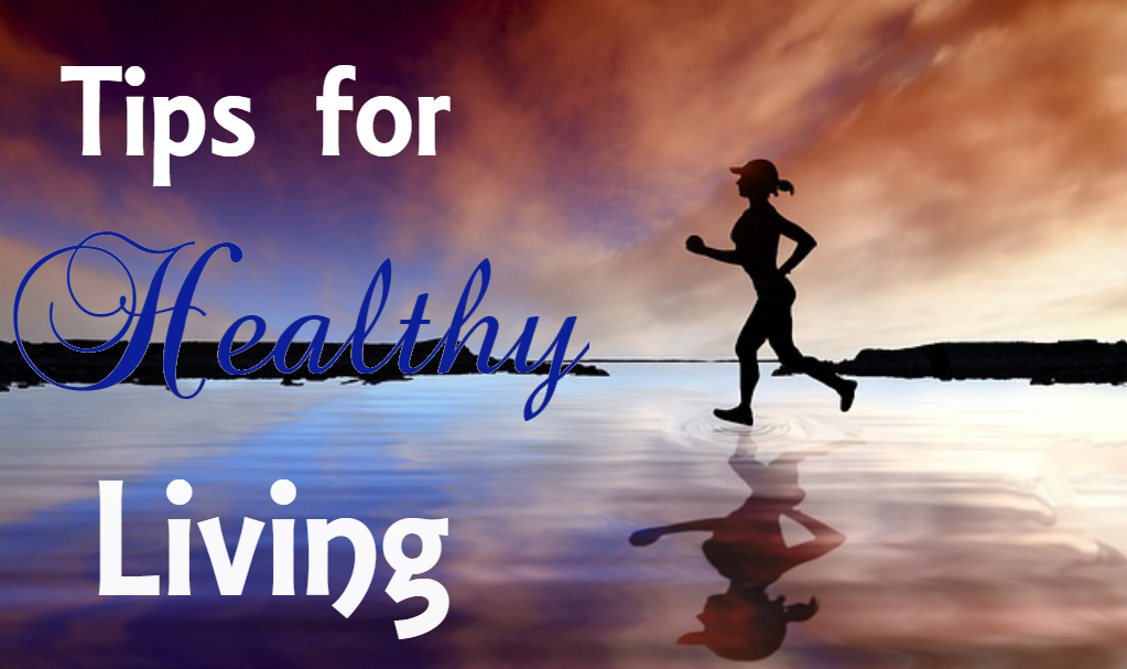Tips for healthy living-woman running in the sunset